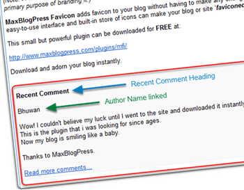 Display Recent User Comments in RSS Feed