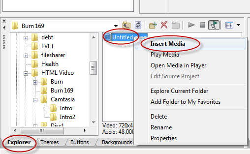 Sony DVD Architect Importing Media