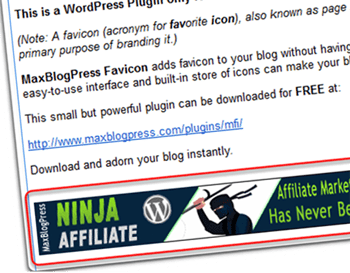 Insert Banner Ad in RSS Feed Footer