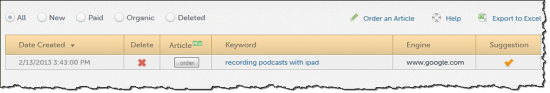 hittail review keyword suggestion