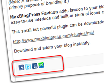 Social Icons in WordPress RSS Feed