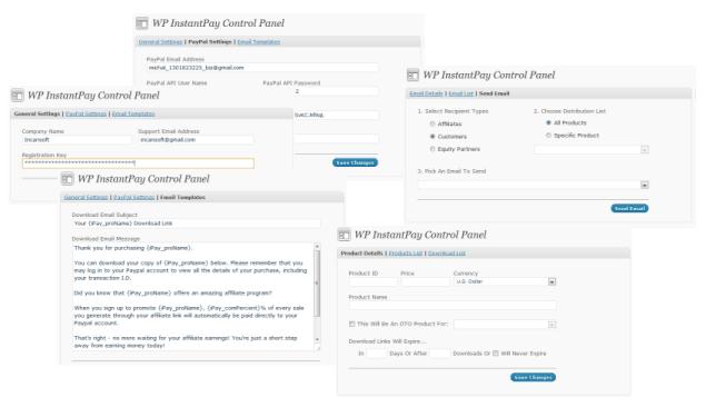 WP InstantPay Screenshot