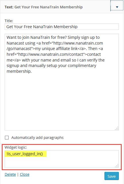 hide-sidebar-non-members