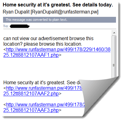 PW Domain Name Spam